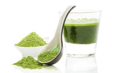 Smoothie à la chlorophylle liquide