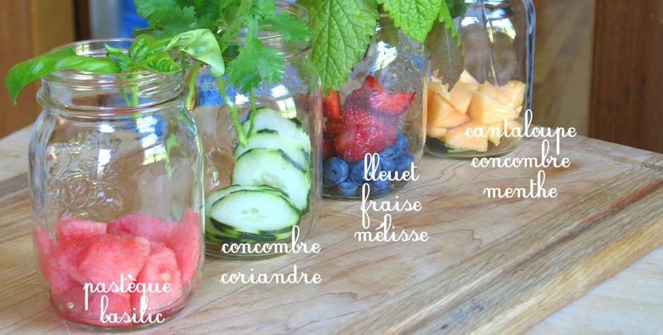 eaux vitaminees detox water
