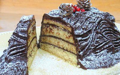 Bûche de Noël sans gluten sans produits laitiers