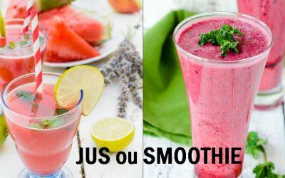 Différence entre jus et smoothie