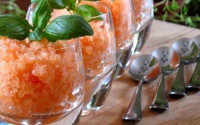 Granité de cantaloup & gingembre