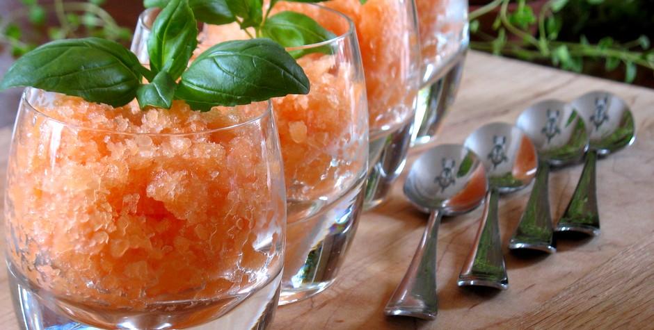 Granité de cantaloupe & gingembre