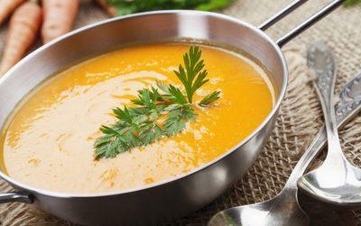 Soupe de carottes, gingembre et goji
